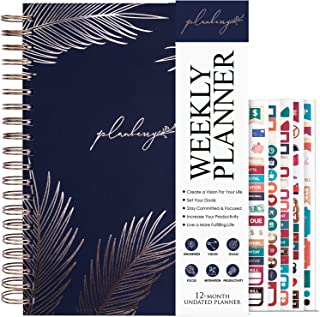 $24 » Sponsored Ad - PLANBERRY Weekly Planner Large – 8x10.4″ Elegant Life & Budget Planner to Hit Your Goals & Live Happier - O...