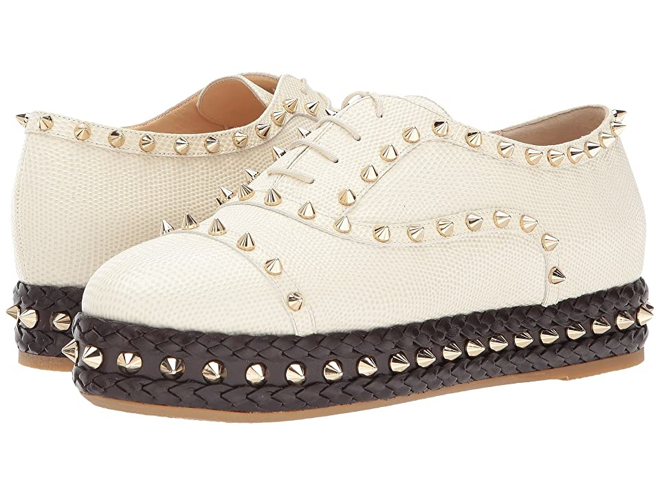 Charlotte Olympia Hoxton (Ivory Embossed Calf/Lizard Effect) Women