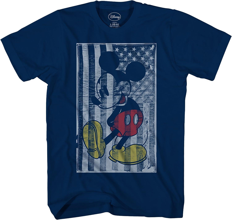 Disney Mickey Mouse American Flag Disneyland World Gra Finally popular brand Colorado Springs Mall Tee Adult