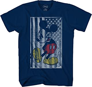 Mickey Mouse American Flag Disneyland World Tee Funny Humor Adult Mens Graphic T-Shirt Apparel
