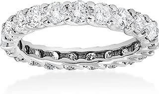 3ct Trellis Diamond Eternity Wedding Ring 14K White Gold