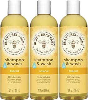 Burt's Bees Baby Bee Shampoo & Wash, 12 Fluid Ounces, Pack of 3 (Packaging May Vary) by Burt's Bees