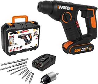 Sponsored Ad – WORX WX394.3 18V (20V MAX) Cordless 1.5Kg Rotary Hammer Drill
