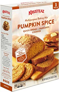 Krusteaz Pumpkin Spice - 3 (15 oz) Pack Box Multipurpose Baking Mix Pumpkin Spice for Quick Bread Pancakes and Cookies