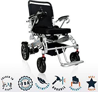 Innuovo Foldable Electric Power Wheelchair, Heavy Duty for Indoors & Outdoors, Extra Wide Seat, Model W5521