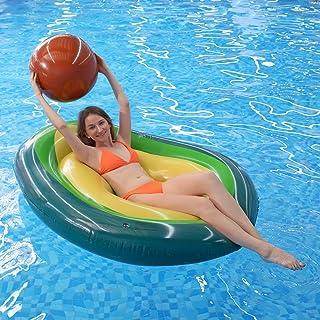 MiiDD Inflable Flotador del Aguacate,Flotador Hinchable Juguete Flotante Barco Inflación para Piscina,Playa Flotación para...