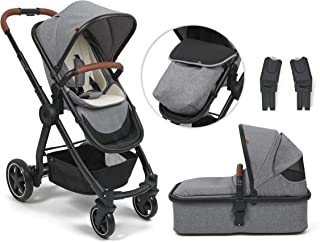 Babylo Cloud XT 3-in-1 Travel System, Chassis, Seat Unit and Carry Cot, Ultra-Lightweight Chassis only 6.5 kg, Compact Fol...