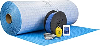 Suntouch WarmWire(240V) 200 Sq.Ft Floor Heat Kit Cable and Thermostat Bundled with Prodeso Uncoupling Membrane