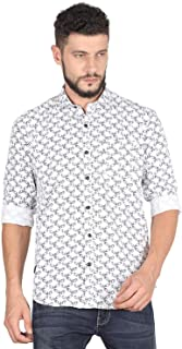 Twills Shirts for Men, Slim Fit Casual Shirts 100% Cotton Shirt, Full Sleeves Shirt Floral Pattern.