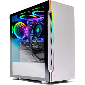 Skytech Archangel Gaming Computer PC Desktop – RYZEN 5 2600X 6-Core 3.6 GHz, GTX 1660 6G, 500GB SSD, 16GB DDR4 3000MHz, RGB Fans, Windows 10 Home
