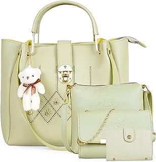 JFC Shining Star Women's PU Shoulder Bag with Sling Bag Combo (Brown)