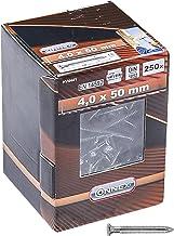 Connex Ankernagels 4,0 x 50 mm - 250 stuks - verzinkt - geprofileerde schacht - opslag in herbruikbaar karton - ideaal voo...