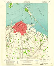 Ohio Maps - 1959 Sandusky, OH USGS Historical Topographic Map - Cartography Wall Art - 44in x 55in