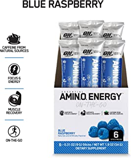 Amino Energy with Green Tea and Green Coffee Extract, Blue Raspberry, 0.31 Ounce (6 Count)