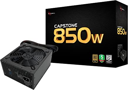 Rosewill Computer Modular Power Supply, Modular 80 Plus Gold 850W PSU for PC/Desktop/ Gaming Computer, Silent 135mm Fan, ATX12V/EPS12V, SLI & Crossfire Ready - Capstone 850