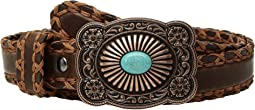 Ariat - Cross Stitch with Lace Edge Belt