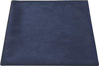 Luxury Navy Blue Suede Pocket Square, Handkerchief, Moleskin