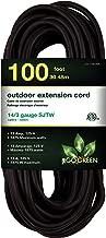GoGreen Power GG-13800BK - 14/3 100' SJTW Outdoor Extension Cord - Black