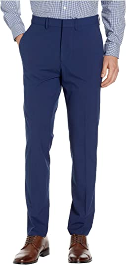 Solid Gab Four-Way Stretch Slim Fit Dress Pants