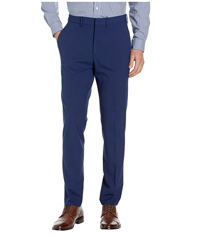 Kenneth Cole Reaction  Solid Gab Four-Way Stretch Slim Fit Dress Pants (Bright Blue) Mens Casual Pants