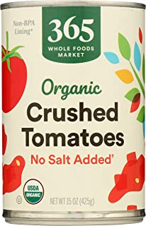 365 by Whole Foods Market, Organic Canned Tomatoes, Crushed - No Salt Added, 15 Ounce