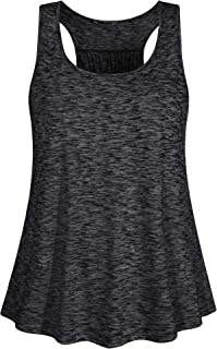 Fulbelle Plus Size Women Racerback Tanks Flowy Loose Workout Yoga Tops XL-4XL