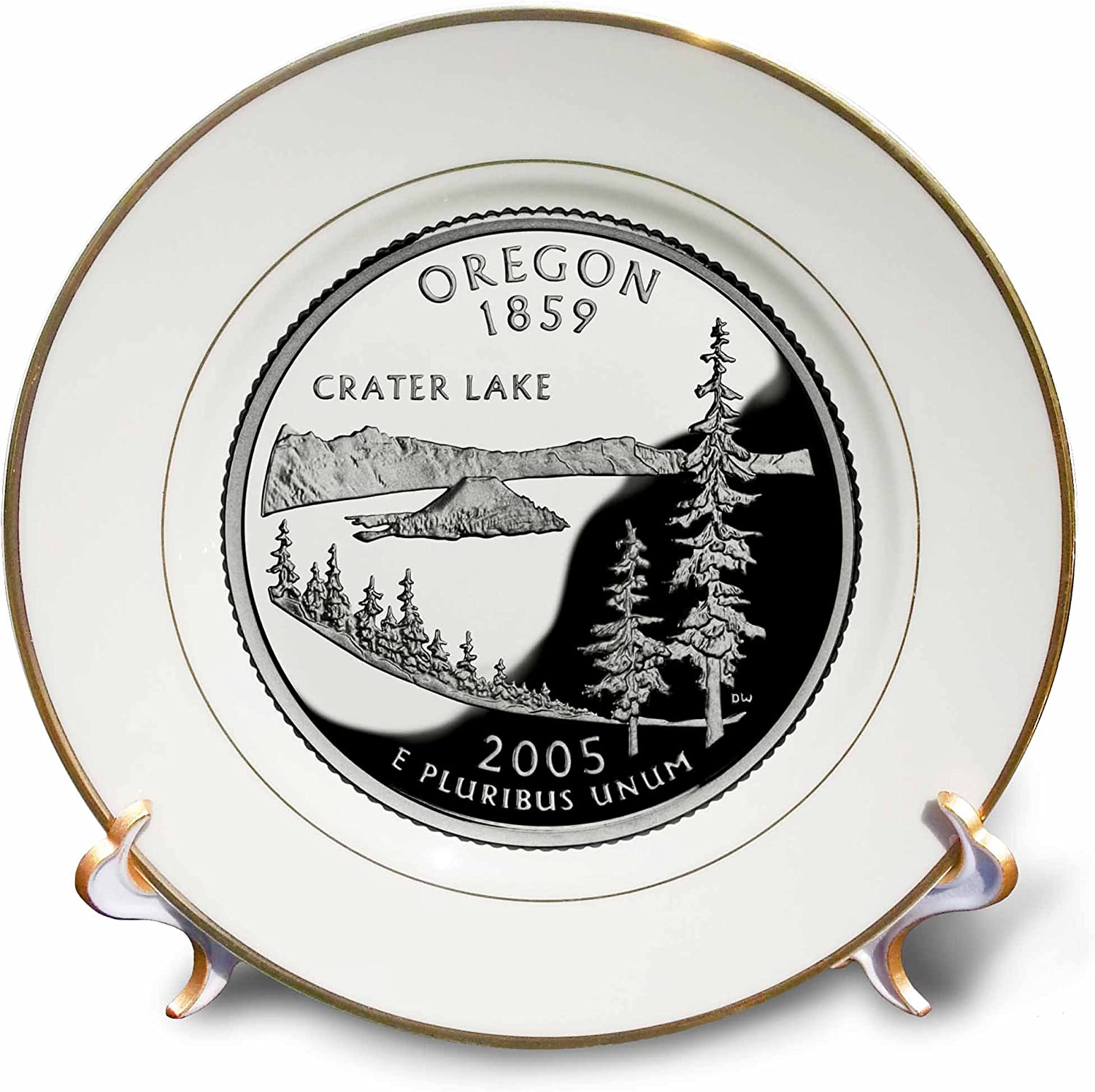 trust New life 3dRose cp_55300_1 State Quarter of PD-US Plate Oregon Porcelain