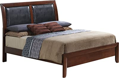 Glory Furniture G1550A-QB Sleigh Bed, Queen, Cherry, 3 boxes