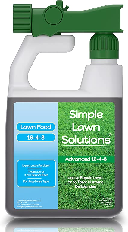 Amazon Com Advanced 16 4 8 Balanced Npk Lawn Food Quality Liquid Fertilizer Spring Summer Concentrated Spray Any Grass Type Simple Lawn Solutions 32 Ounce Patio Lawn Garden