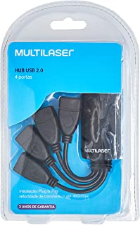 Multilaser Flexível 2.0 AC042 - Hub 4 Portas, Preto