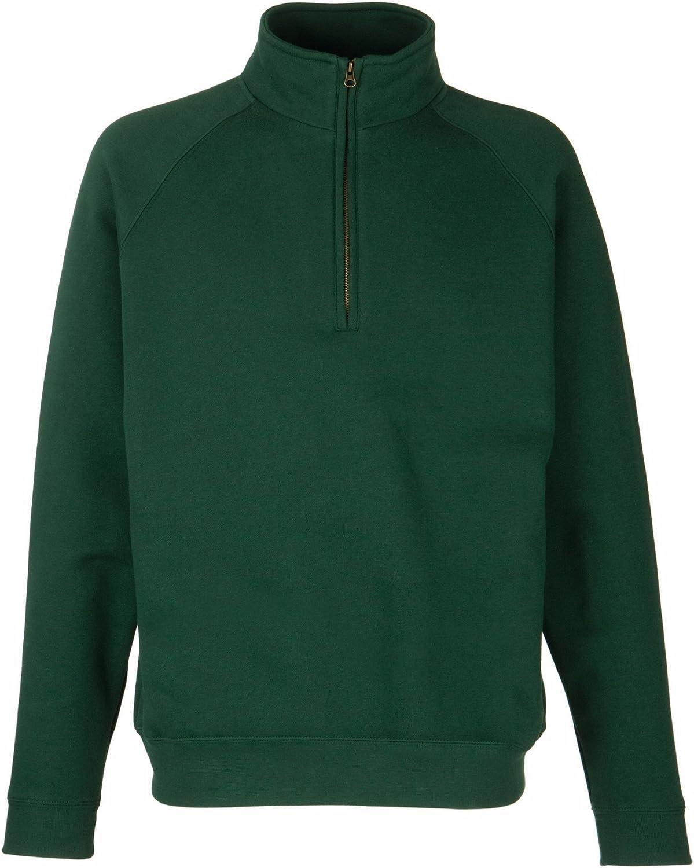 Fruit Of The Loom Sweatshirt Pullover mit Rei/ßverschluss