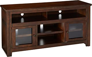 Signature Design by Ashley W797-38 TV Stand, 60 Inch, Reddish Brown