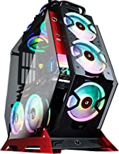KEDIERS 7 PCS RGB Fans ATX Mid-Tower PC Gaming Case Open Computer Tower Case - USB3.0 - Remote Control - 2 Tempered Glass ...