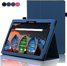 ACdream Lenovo Tab 2 A10 & Lenovo Tab3 10 Business Case, Folio Leather Cover Case for Lenovo Tab2 A10-70 / Tab2 A10-30 / TAB-X103F Tab 10 / Tab3 10 Business Tablet, Dark Blue