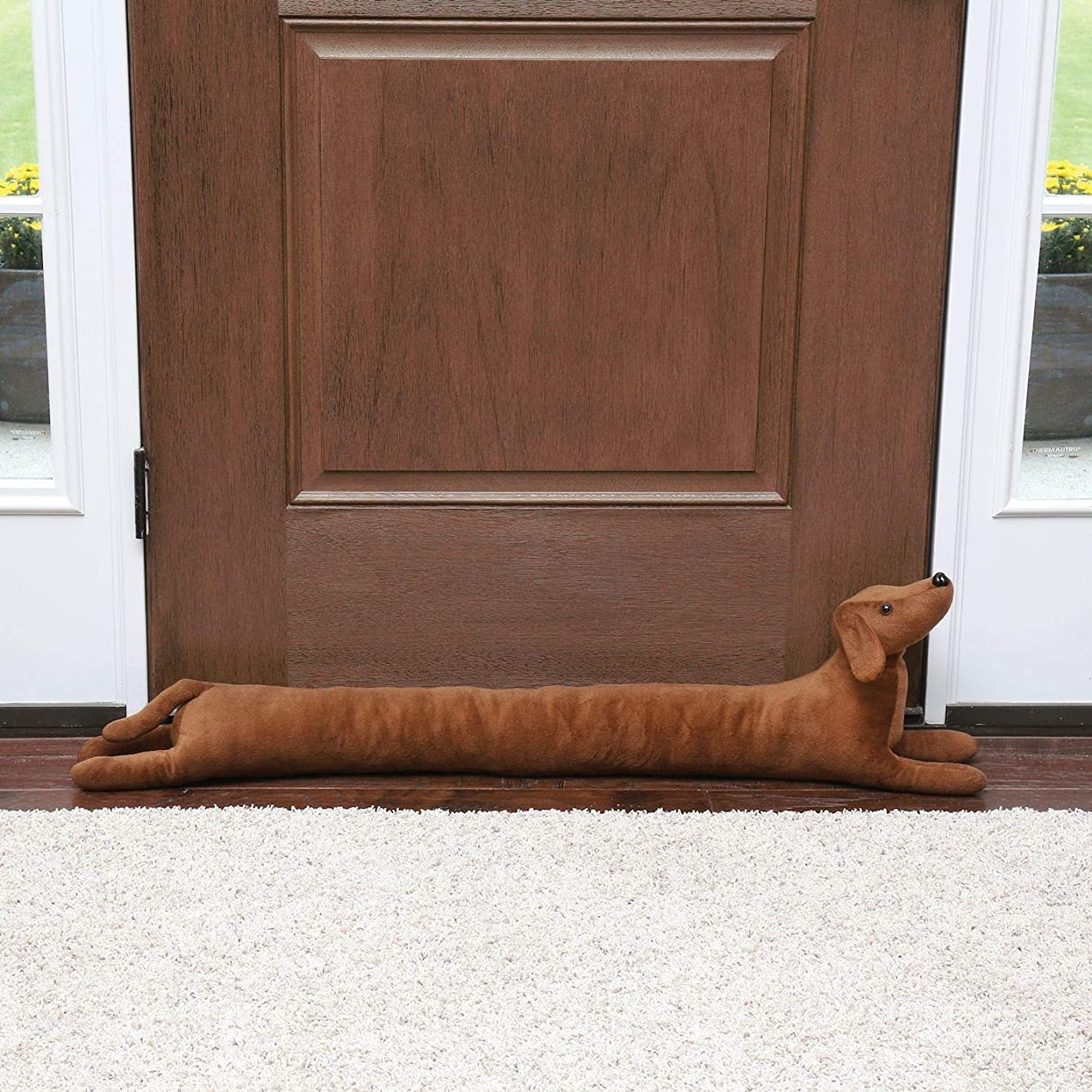 WHAT ON EARTH Dachshund Draft Dodger - Dog Shaped Weighted Door/Window Breeze and Bug Guard, Noise Reducer - 41.5