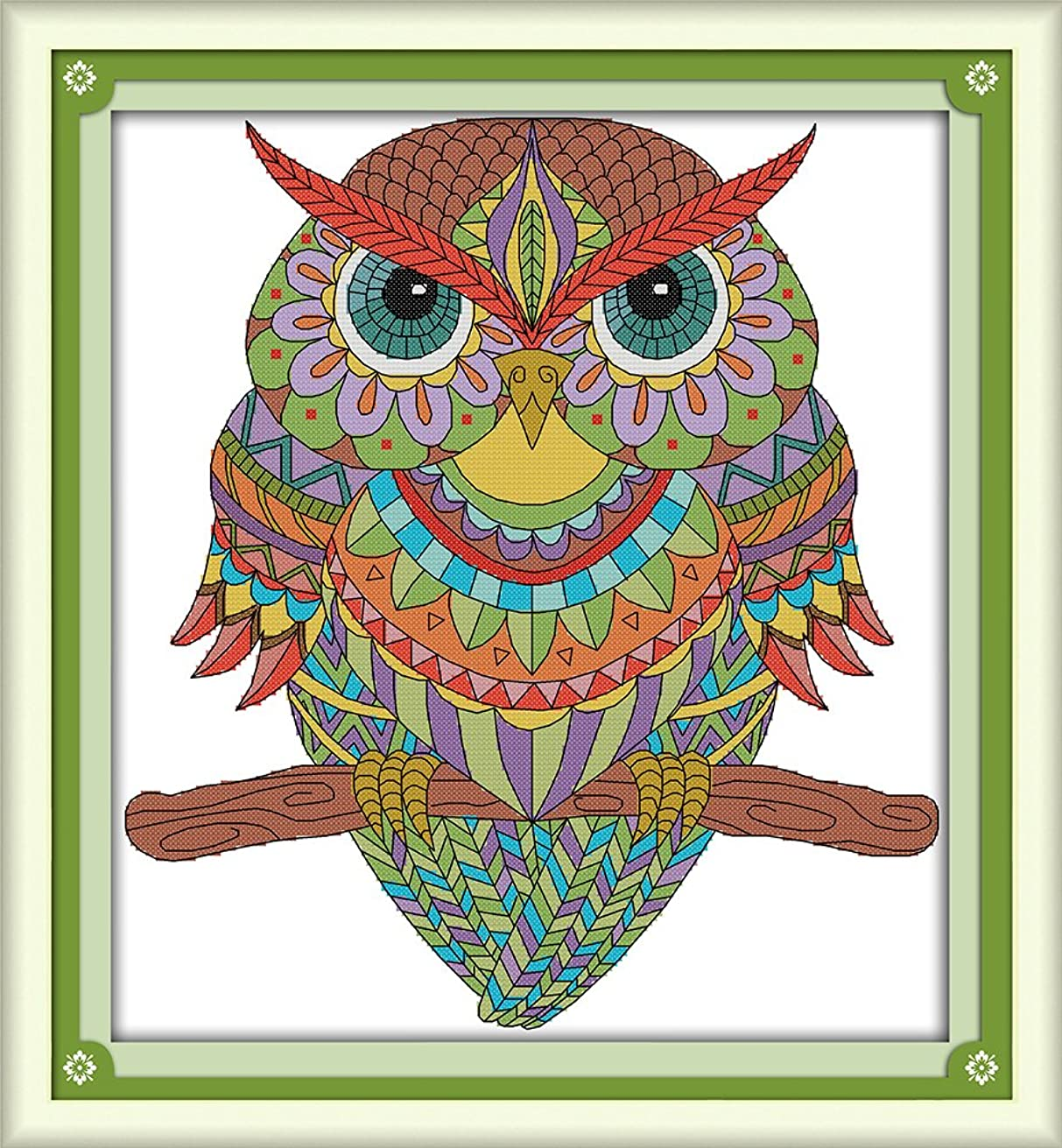 CaptainCrafts New Cross Stitch Kits Patterns Embroidery Kit - Owl (STAMPED)