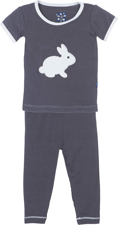 KicKee Pants Max 44% OFF Short Sleeve Pajama Set B Little Bunny Stone New color Boys