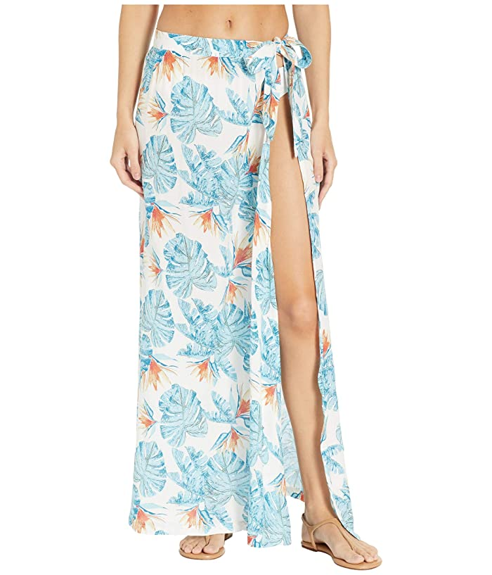 Roxy Free As Waves Long Skirt Cover-Up (Bright White Midnight Paradise) Women