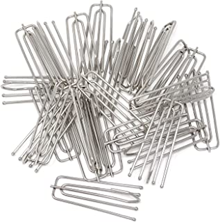 HONBAY Stainless Steel Curtain Pleat Hook 24 Pack of 4 Prongs Pinch Pleat Clips Hooks Traverse Pleater