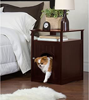 Merry Products Nightstand Pet House/Cat Litter Box Cover Walnut