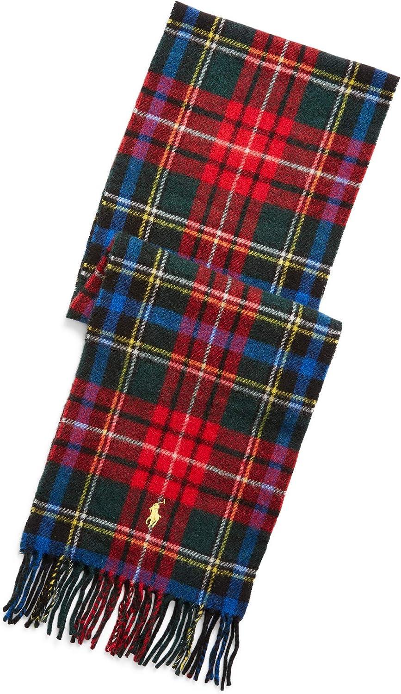 Polo Ralph Lauren Men`s Reversible Wool Blend Tartan Scarf
