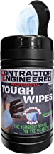CE Tools Pro Tough Wipes with Scrubbing Beads, Thick Heavy-Duty Hand Wipes, Multi-Surface Wipes, Waterless Hand Cleaner (5...