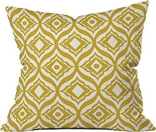 Deny Designs Heather Dutton Trevino Yellow Throw Pillow, 20 x 20