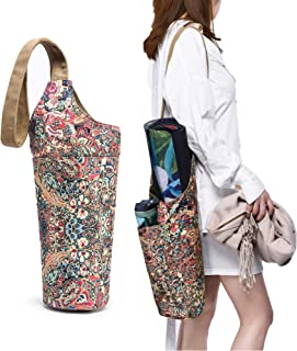 IGUDE Yoga Mat Bag with Large Size Pocket and Zipper Pocket, Boho Bag, Fit Most Yoga Accessory, Yoga Bags and Carriers for Women