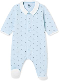 Petit Bateau Baby Boys' Sleepsuit + Nanobebe Pacifier (0-3m) Blue