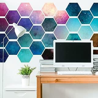 Chromantics Hexagonal Space Wall Decal Tiles - Create Your Own Geometric Wall Mural