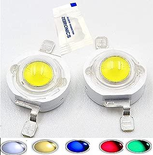10 pcs 3.2-3.4v 700MA (3w Natural-White) 4000-4500k High Power Led Chip Super Bright Intensity SMD COB Light Emitter Components Diode 3 W Bulb Lamp Beads DIY Lighting