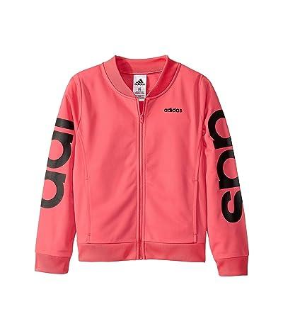 adidas Kids Logo Tricot Jacket (Big Kids) (Medium Pink) Girl