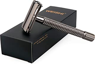 Weishi Nostalgic Long Handle Butterfly Open Double Edge Safety Razor