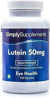 Luteina 50mg - ¡Bote para 6 meses! - Apto para veganos - 180 Cápsulas- SimplySupplements
